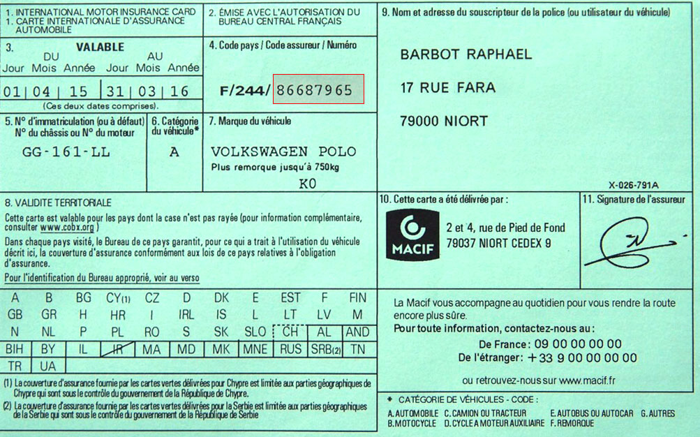 Carte Verte Et Assurances En Ligne Cres21 Le Guide